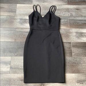 Mid length Bodycon Black Dress